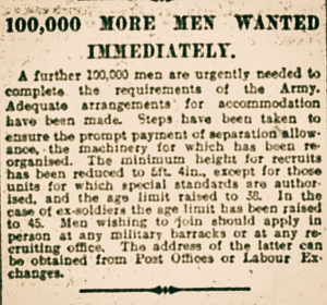 Article from The Bury Times October 31st 1914. Click the image to read full size.