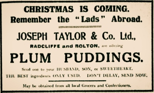 Advertisement printed in The Bury Times November 1914.