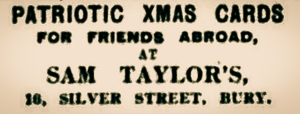 Advertisement for Christmas Cards. The Bury Times, December 1914.