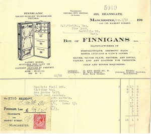 Receipt for Army provisions and uniform