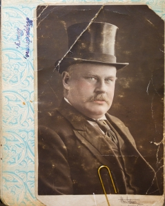 Photograph of Mr Raymond Furniss on the first page of the album. 11 years manager at the Hippodrome.