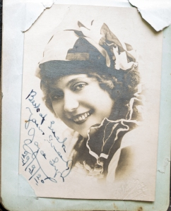 Signed photograph of performer, Joyce Lyn, dated 29/9/1920