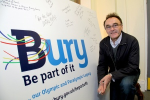 Danny Boyle's visit to present Bury Library 'Inspire Mark' certificate