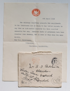Letter from The War Office