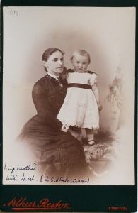Elizabeth Hutchinson with her son, John Summerscales Hutchinson