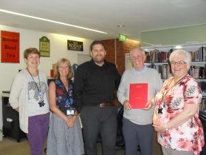 Mr Hampson, Elizabeth Binns (Head of Bury Libraries) and our great team.