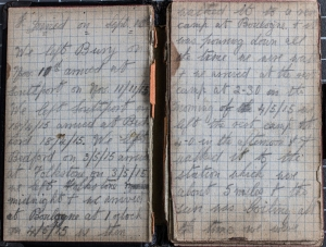 WW1 notebook