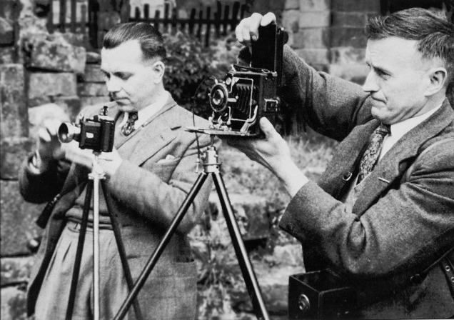 Charles Jackson (right); George Arthur Pollard (left). Members of Bury Photographic Society. Photograph courtesy of Bury Photographic Society